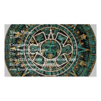 Aztec Calendar in detail Business Card Template