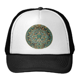 Aztec Calendar in detail Hat