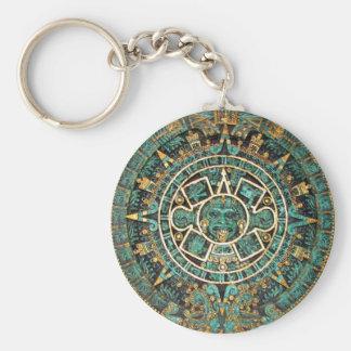 Aztec Calendar in detail Key Chains
