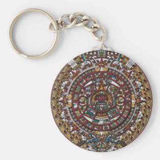 Aztec Calendar Keychain