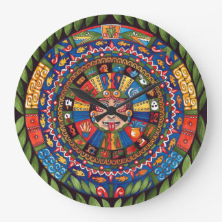 Aztec Calendar Large Wall Clock