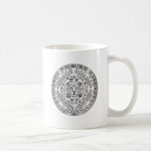 aztec calendar coffee mugs