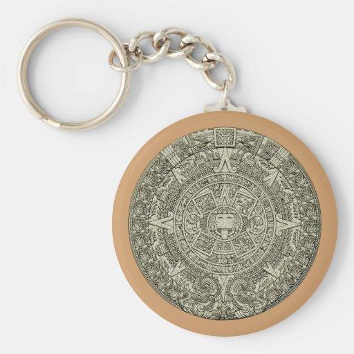 Aztec calendar stone aztec calendar stone keychains