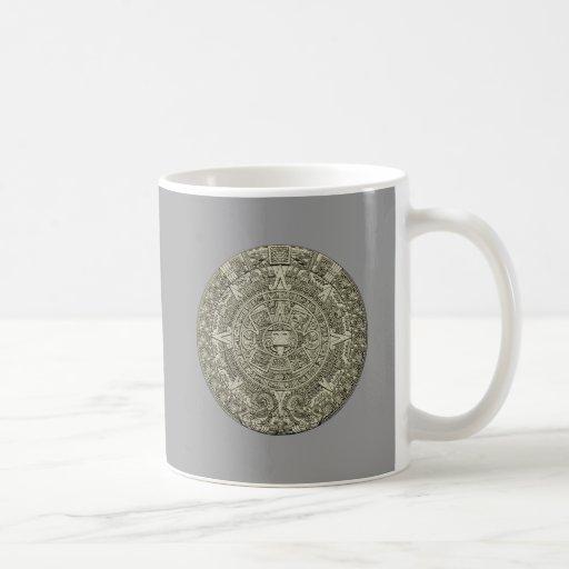 Aztec calendar stone aztec calendar stone coffee mugs