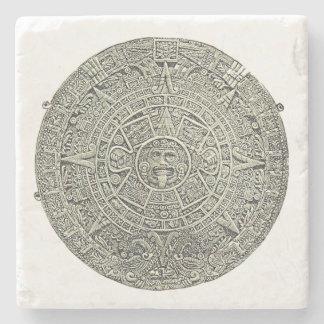 Aztec Calendar Stone Coaster