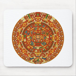 Aztec Calendar Stone or Sun Stone of Mexico. Mouse Pad