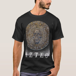 Aztec Calendar With Wicked Skull  T-shirt
