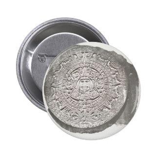 Aztec Calender 1862 Pinback Button