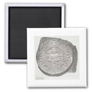 Aztec Calender 1862 Mayan Calendar Square Magnet