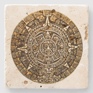 Aztec Calender Stone Coaster
