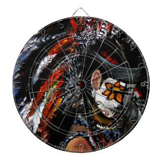 Aztec celebration dartboard