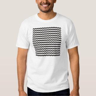 Aztec Chevron black and white zigzag stripes T-shirts