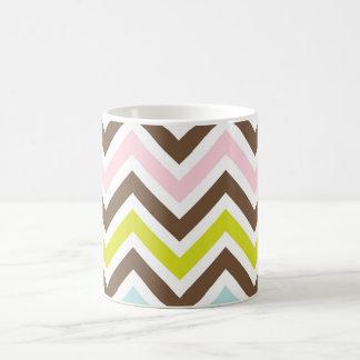 Aztec Colors - Chic Chevron Zigzag Pattern Magic Mug