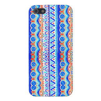 Aztec Colourful Blue Orange And White Pattern Case For iPhone 5/5S