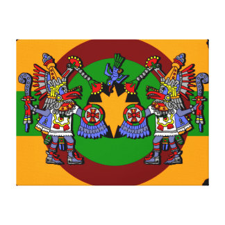Aztec Dancers. Canvas Print