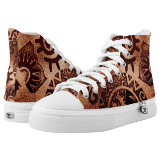 Aztec design print High top sneakers