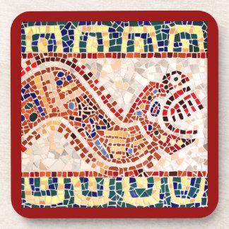 Aztec Dragon Mosaic Drink Coasters