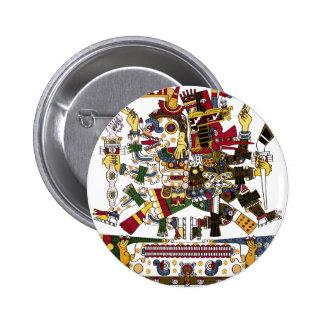 Aztec Duality Pinback Button