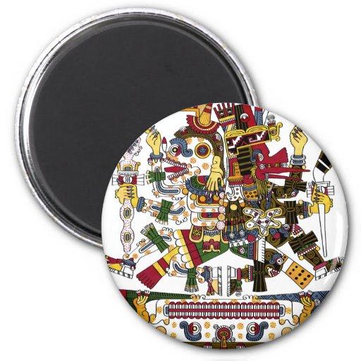 Aztec Duality Fridge Magnets