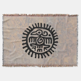 Aztec Eagle Throw Blanket