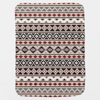 Aztec Essence II Ptn (H) Black White Grey Red Sand Pramblankets