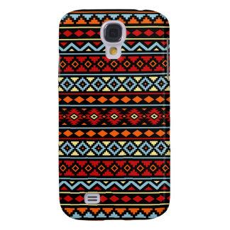 Aztec Essence II Ptn Red Blue Orange Yellow Blk Galaxy S4 Case