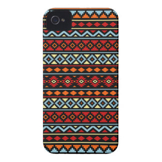 Aztec Essence II Ptn Red Blue Orange Yellow Blk iPhone 4 Case