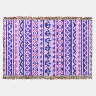 Aztec Essence II Vertical Ptn Pinks Blue Purple Throw Blanket