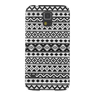Aztec Essence Pattern IIb Black & White Case For Galaxy S5