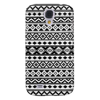 Aztec Essence Pattern IIb Black & White Galaxy S4 Cover