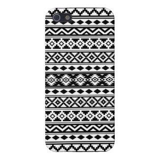 Aztec Essence Pattern IIb Black & White iPhone 5 Case