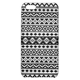 Aztec Essence Pattern IIb Black & White iPhone 5C Case