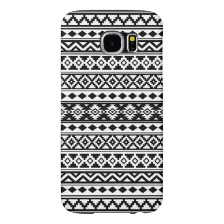 Aztec Essence Pattern IIb Black & White Samsung Galaxy S6 Cases