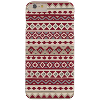 Aztec Essence Pattern IIb Red Grays Cream Sand Barely There iPhone 6 Plus Case
