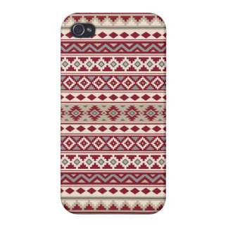 Aztec Essence Pattern IIb Red Grays Cream Sand Cover For iPhone 4