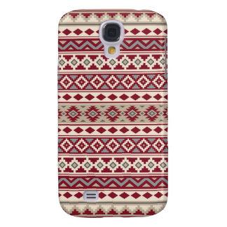 Aztec Essence Pattern IIb Red Grays Cream Sand Galaxy S4 Cover