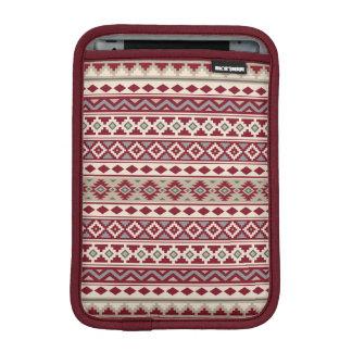 Aztec Essence Pattern IIb Red Grays Cream Sand iPad Mini Sleeve