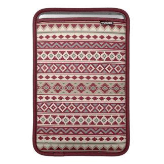 Aztec Essence Pattern IIb Red Grays Cream Sand MacBook Sleeve