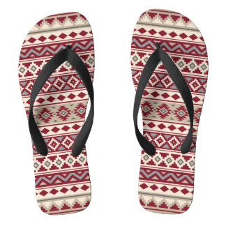 Aztec Essence Pattern IIb Red Grays Cream Sand Thongs