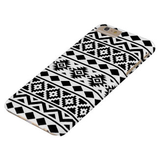 Aztec Essence Pattern III Black on White Barely There iPhone 6 Plus Case
