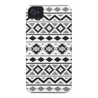 Aztec Essence Pattern III Black White Gray Case-Mate iPhone 4 Cases