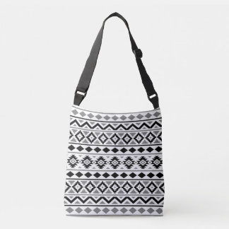 Aztec Essence Pattern III Black White Gray Crossbody Bag