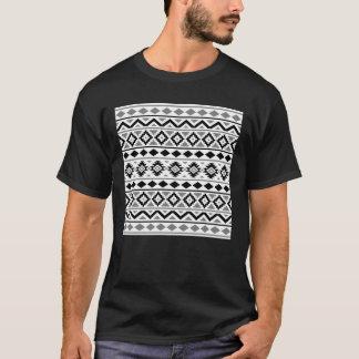 Aztec Essence Pattern III Black White Gray T-Shirt
