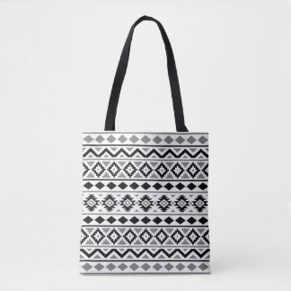 Aztec Essence Pattern III Black White Gray Tote Bag