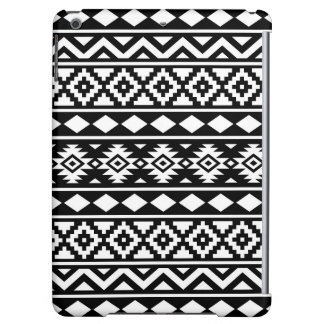 Aztec Essence Pattern III White on Black