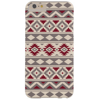 Aztec Essence Pattern IIIb Cream Taupe Red Barely There iPhone 6 Plus Case