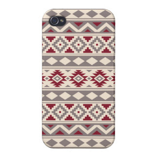 Aztec Essence Pattern IIIb Cream Taupe Red iPhone 4/4S Cover