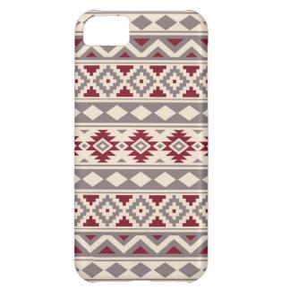 Aztec Essence Pattern IIIb Cream Taupe Red iPhone 5C Case