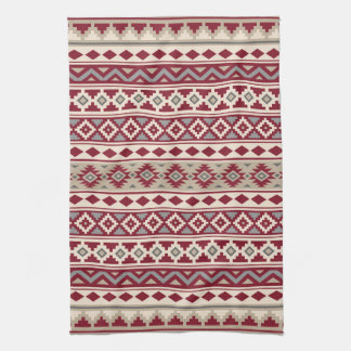 Aztec Essence Ptn IIb Red Grays Cream Sand Tea Towel