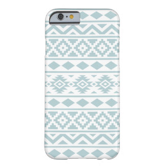 Aztec Essence Ptn III Duck Egg Blue on White Barely There iPhone 6 Case